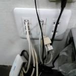 LANケーブルを電話線替りに使う