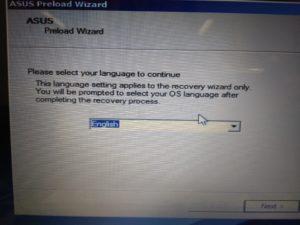 diskpart.exeからPreload Wizard